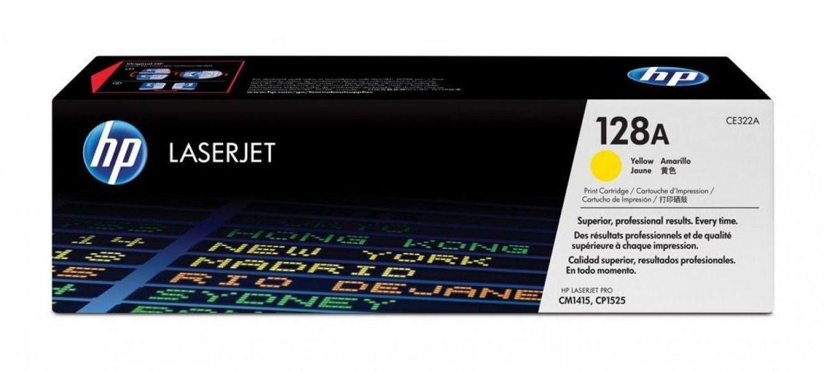 Toner LaserJet amarelo HP 128A Original (CE322A)