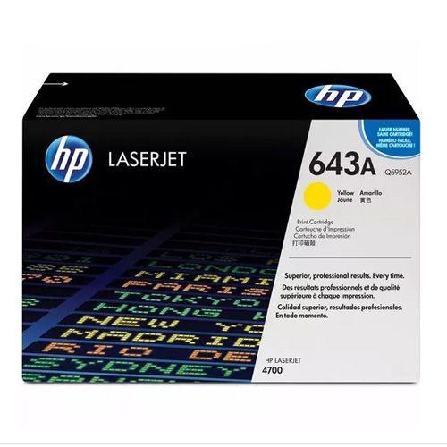Toner LaserJet amarelo HP 643A Original Q5952A / AC