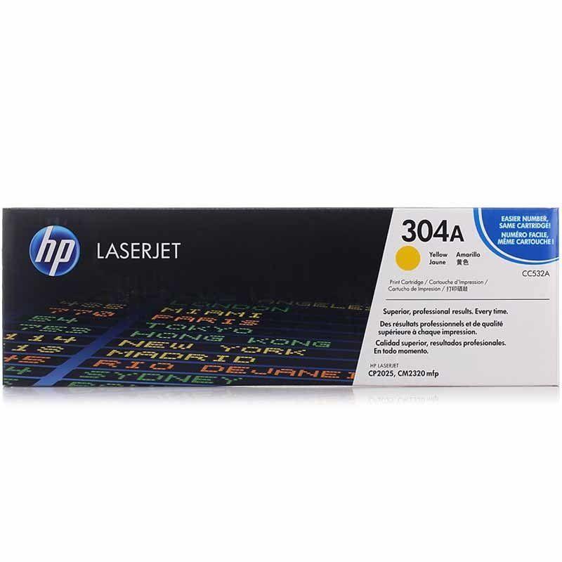 Toner LaserJet amarelo HP 304A Original (CC532A)