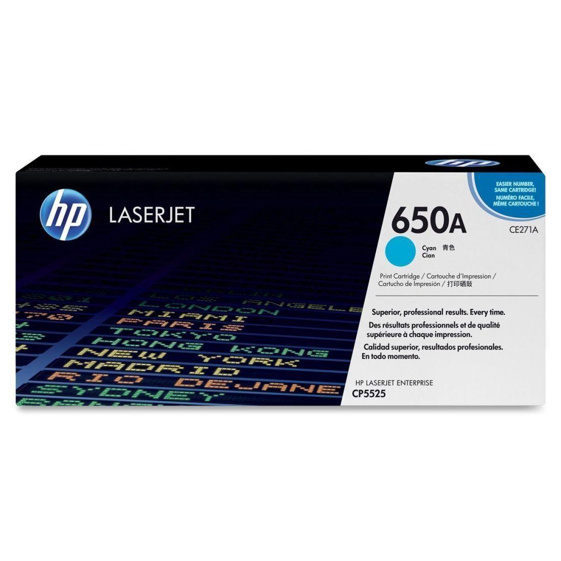 Toner LaserJet ciano HP 650A Original CE271A | AC