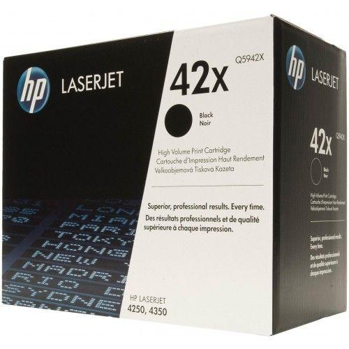 Toner LaserJet preto de alto rendimento HP 42X Original Q5942YC ( Q5942X)