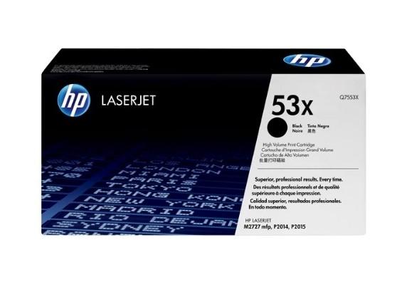 Toner LaserJet preto de alto rendimento HP 53X Original (Q7553X)