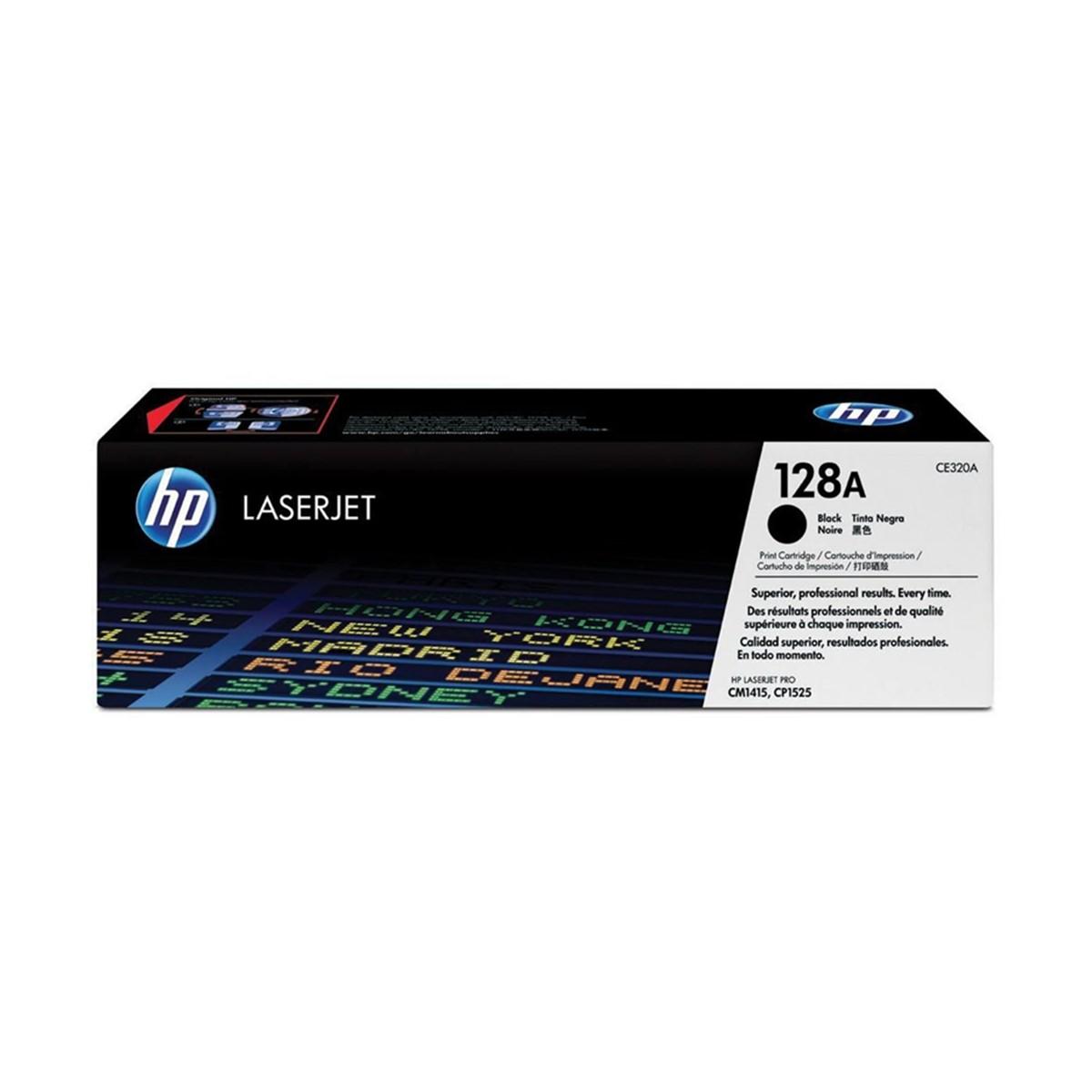 Toner LaserJet preto HP 128A Original (CE320A)
