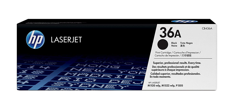 Toner LaserJet preto HP 36A Original CB436A/AC