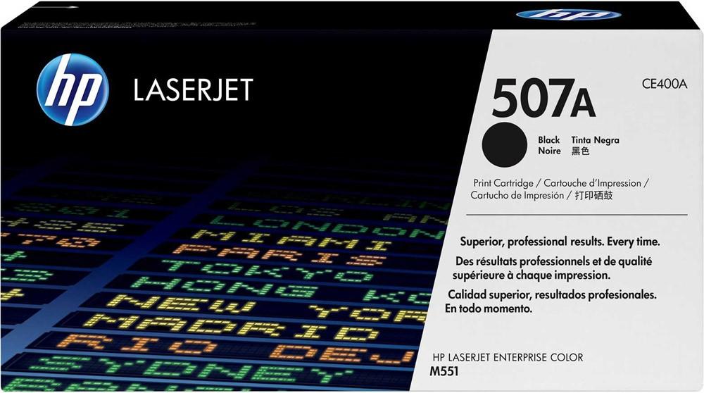 Toner LaserJet preto HP 507A Original CE400A (5,5K)