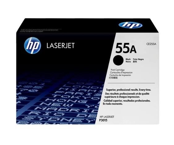 Toner LaserJet Preto HP 55A Original CE255A