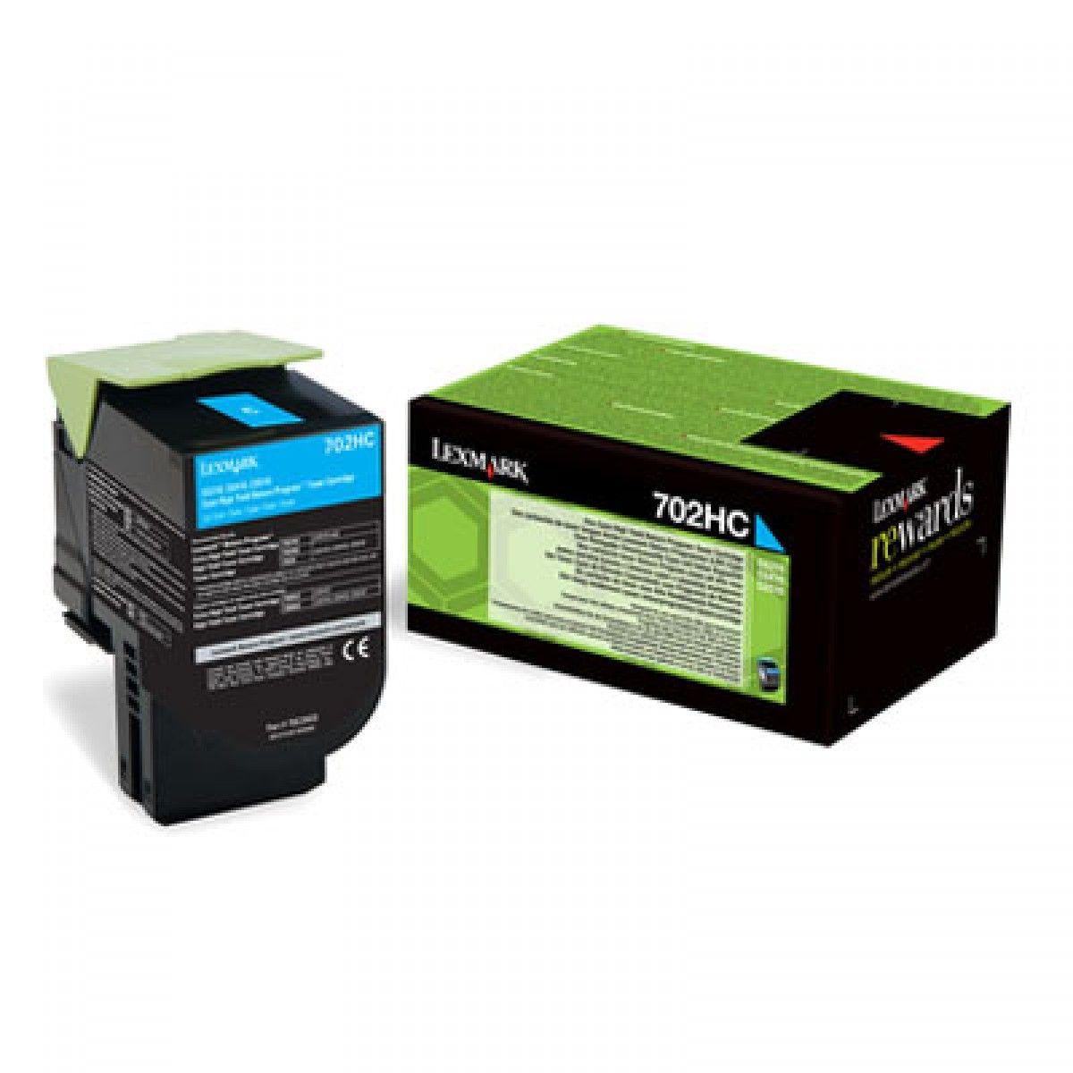 Toner Lexmark 70C8XC0 - Ciano