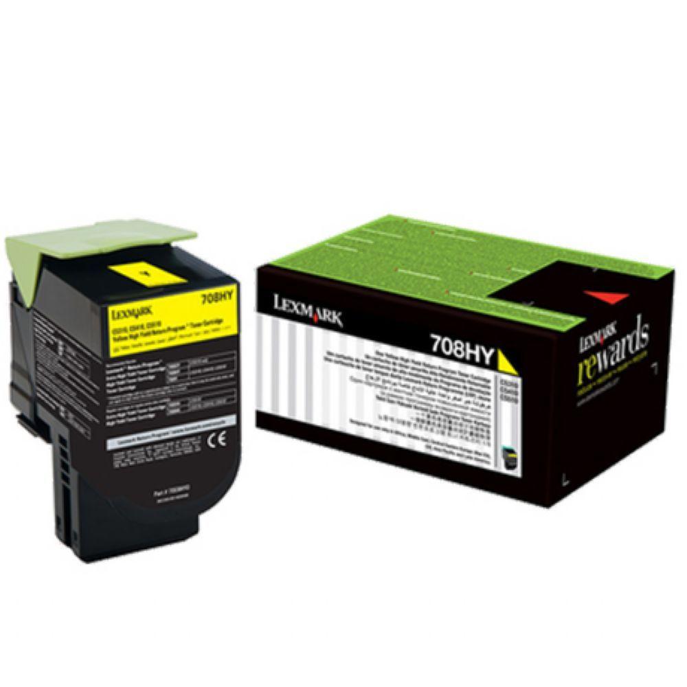 Toner Lexmark 70C8XY0 - Amarelo