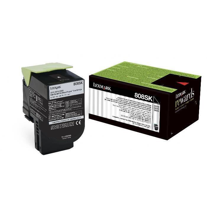 Toner Lexmark 80C8SK0 - Preto