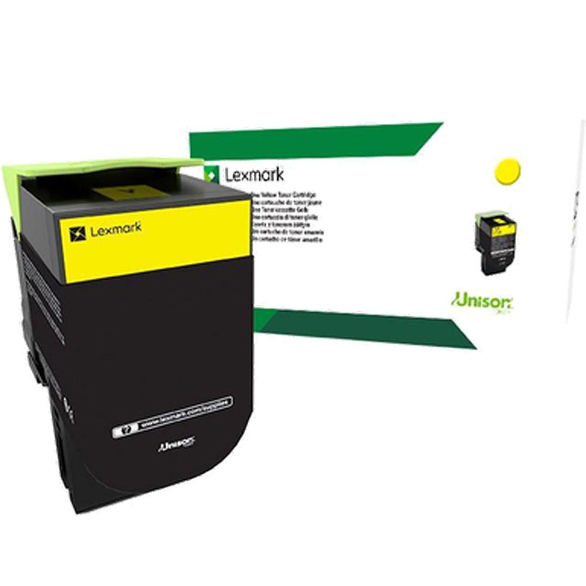 Toner Lexmark 80C8SY0 - Amarelo