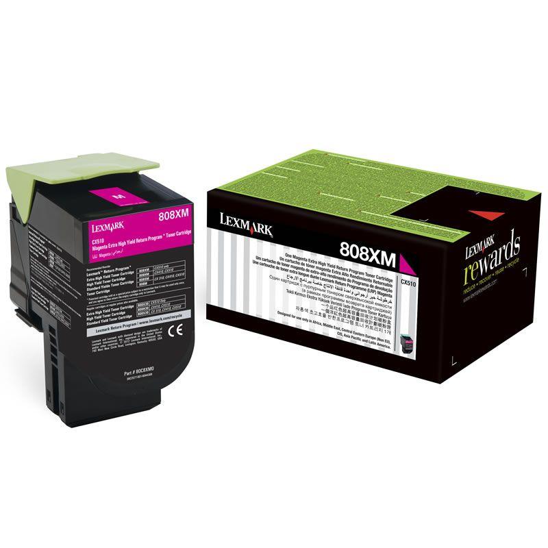 Toner Lexmark 80C8XM0 - Magenta