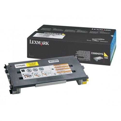 Toner Lexmark Amarelo - C500H2YG