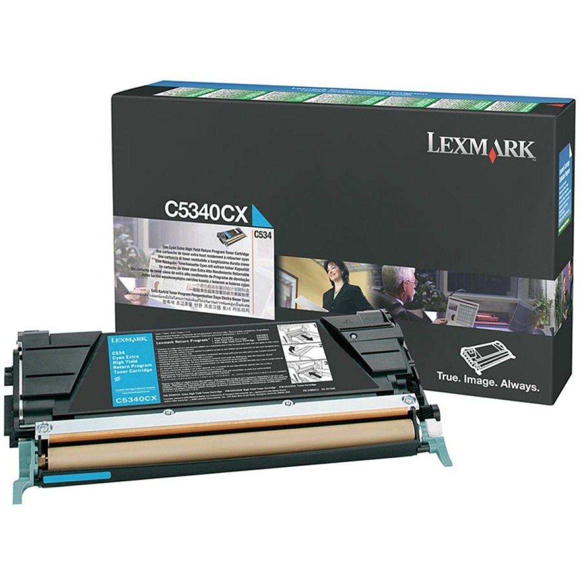Toner Lexmark C534 Ciano - C5340CX
