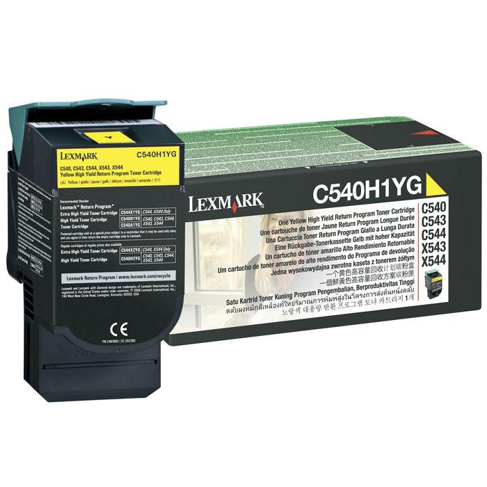 Toner Lexmark C540/C544/X543/X544 Yellow C540H1YG