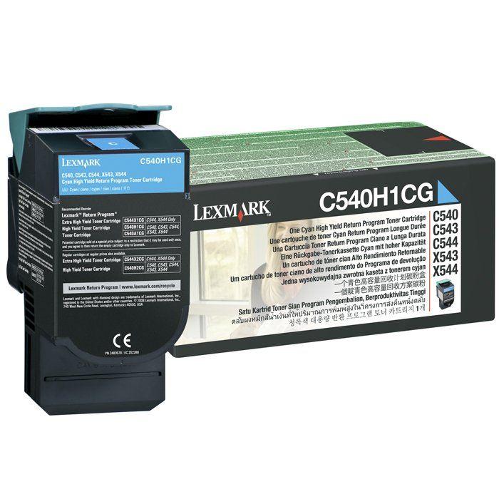 Toner Lexmark C540/C544/X543/X544 Ciano - C540H1CG