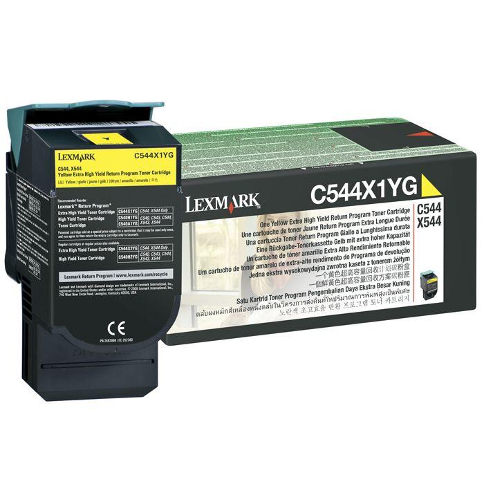 Toner Lexmark C544/X544/X548 Amarelo - C544X1YG