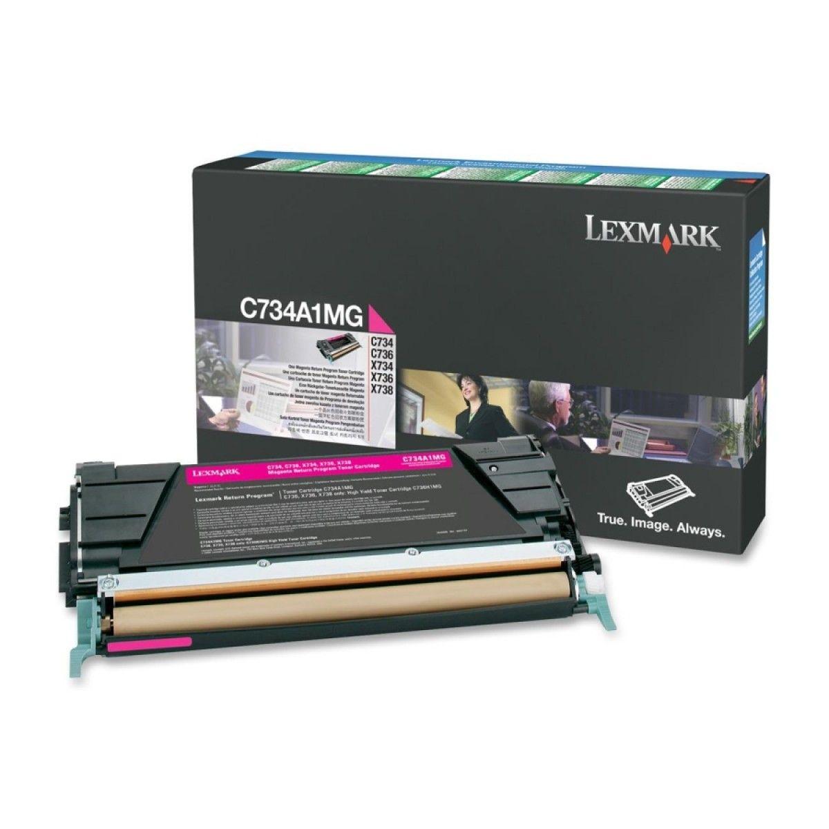 Toner Lexmark C734/6/X734/736 Magenta - C734A1MG