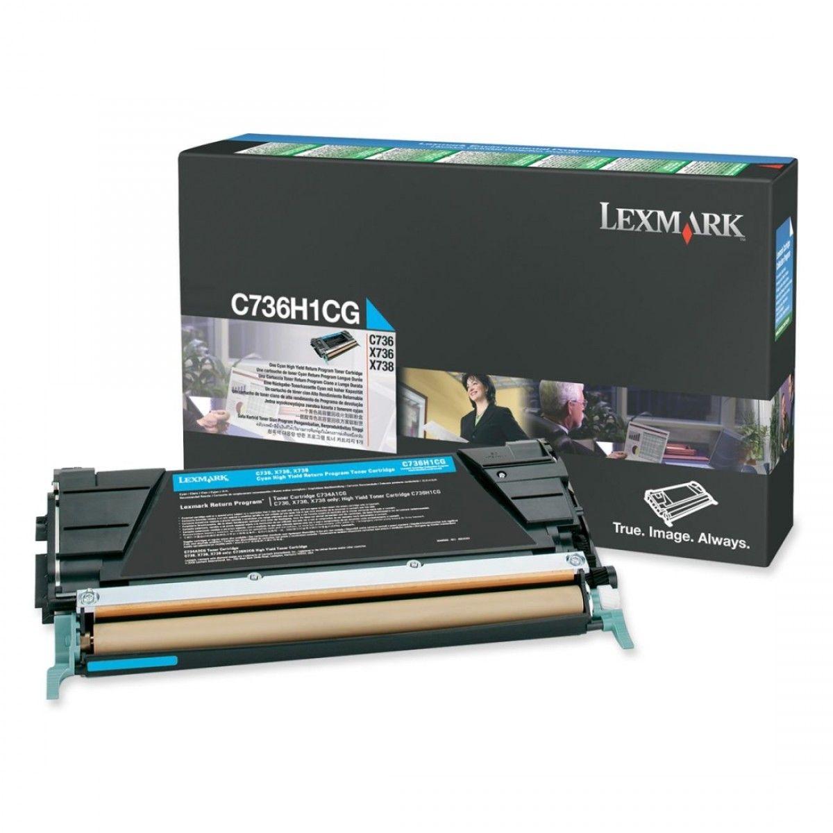 Toner Lexmark C736/X736 Ciano - C736H1CG