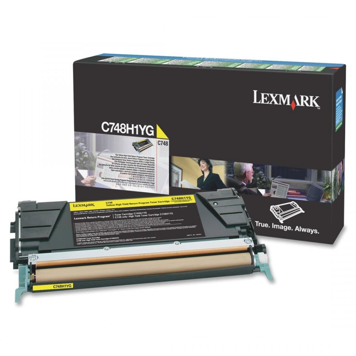 Toner Lexmark C748 Amarelo - C748H1YG