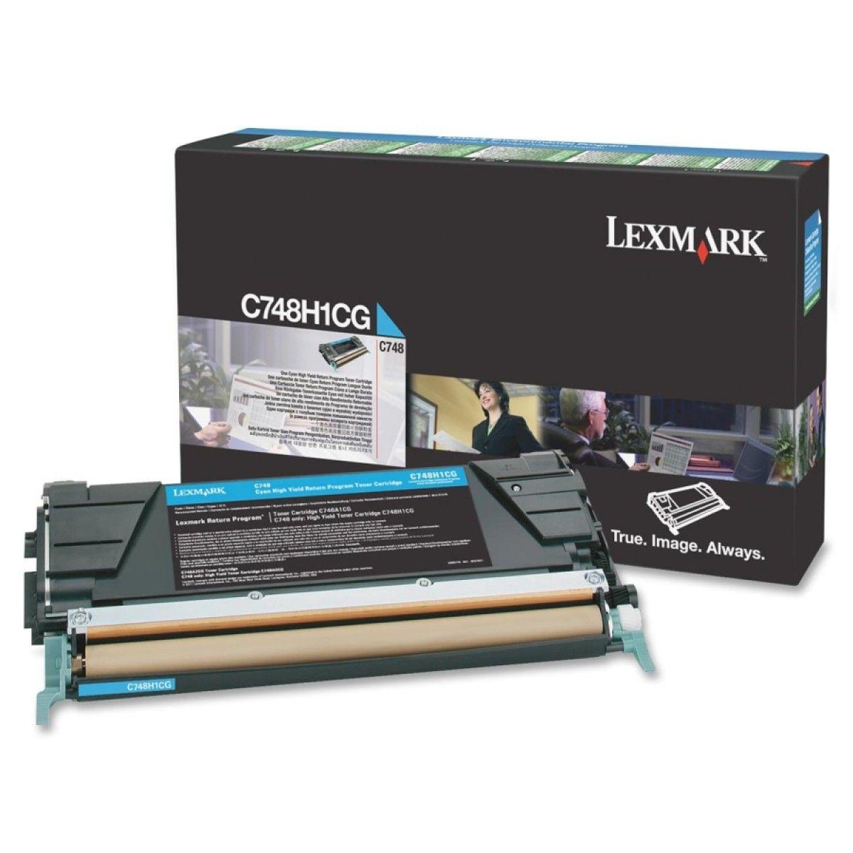 Toner Lexmark C748 Ciano - C748H1CG