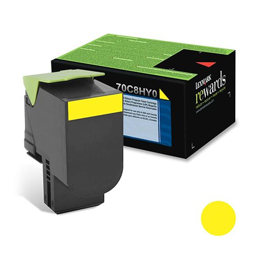Toner Lexmark CS310/510 - Amarelo - 3K - 70C8HY0