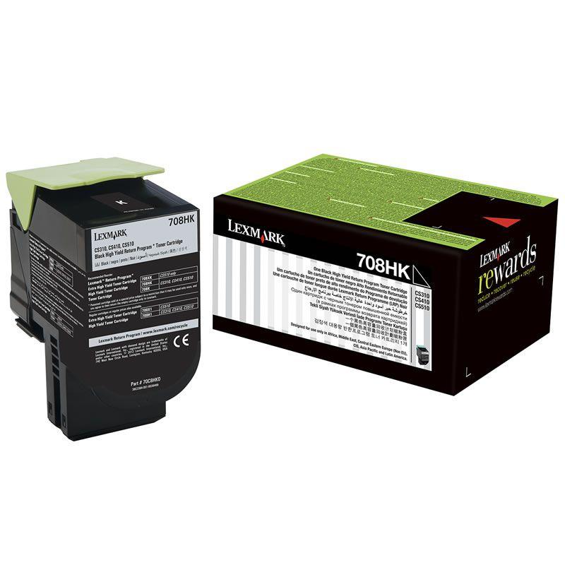 Toner Lexmark CS310/510 - Preto - 4K - 70C8HK0