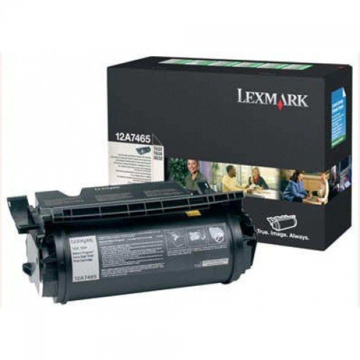 Toner Lexmark Preto - 12A7465