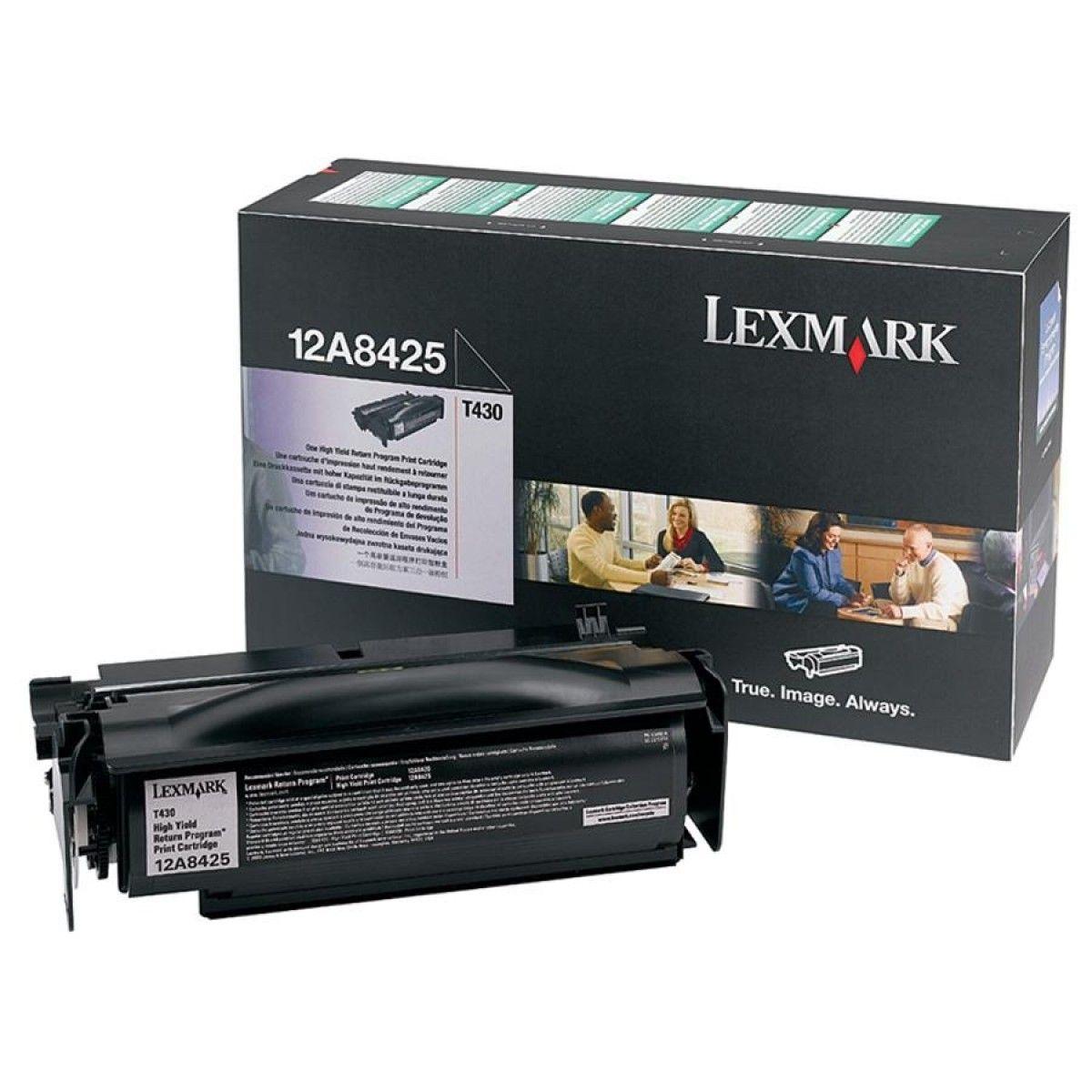 Toner Lexmark Preto - 12A8425