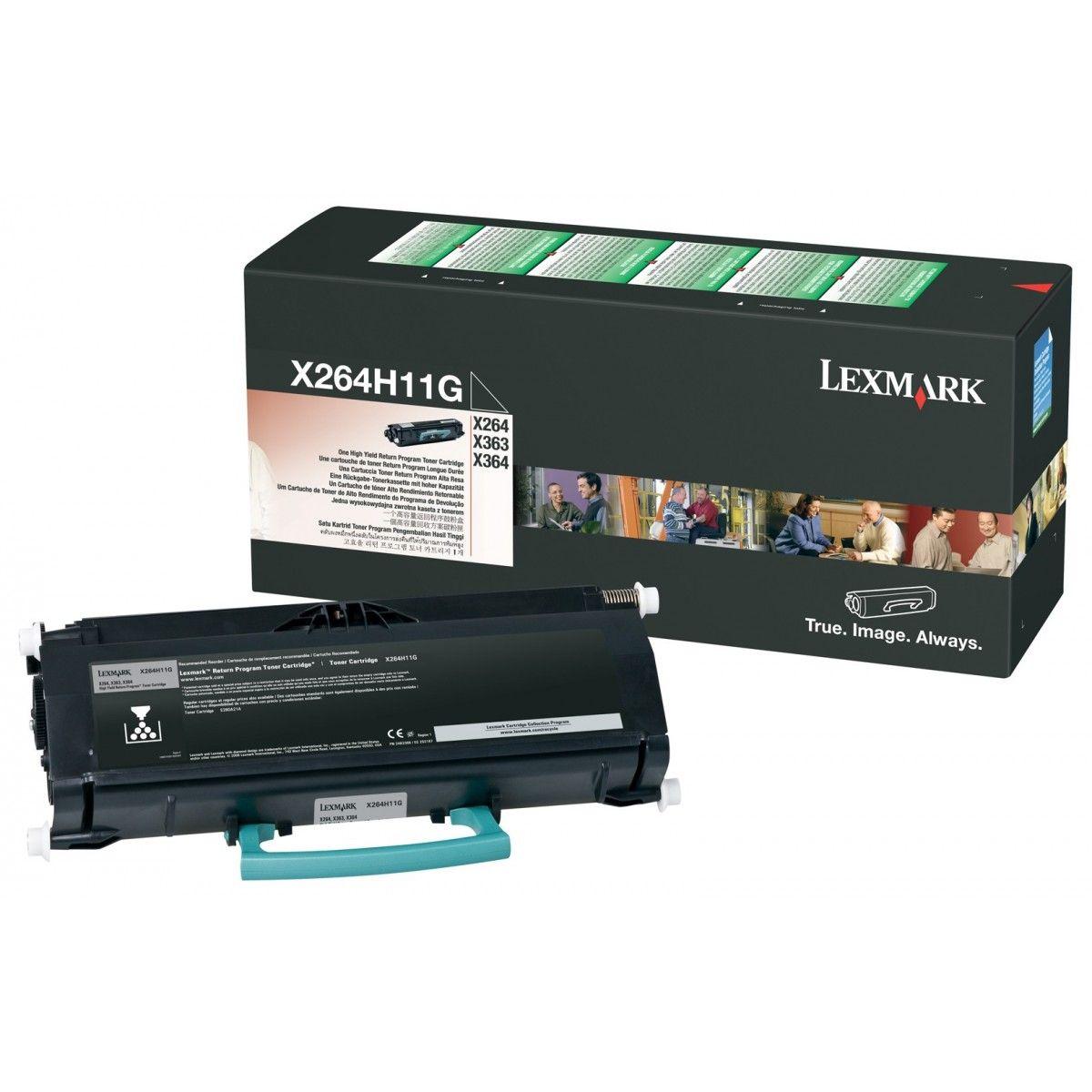 Toner Lexmark X264/X364 Preto - X264H11G