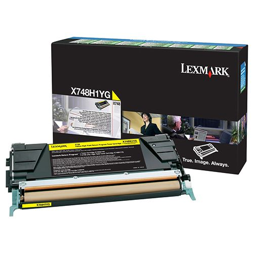 Toner Lexmark X748 Amarelo - X748H1YG