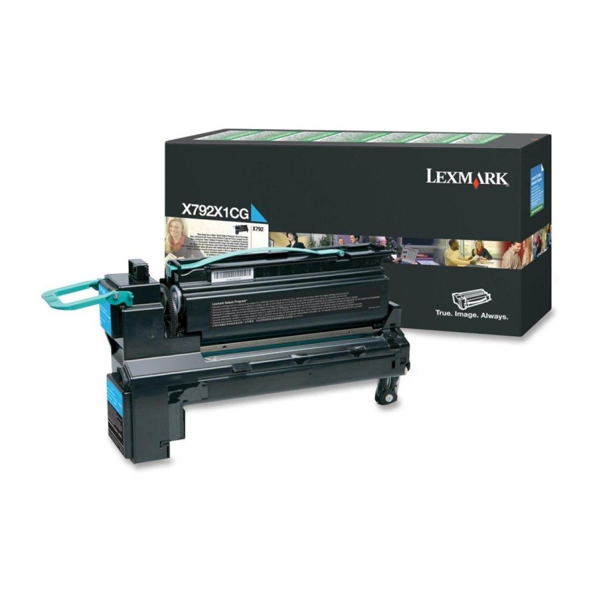 Toner Lexmark X792 Ciano - X792X1CG