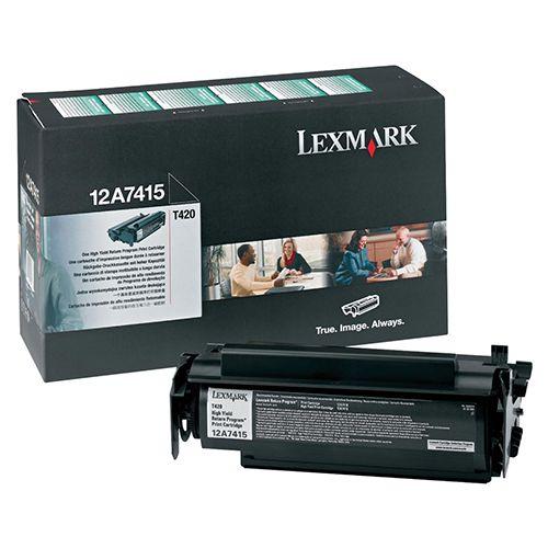 Toner Original Lexmark T420 - 12A7415 - Preto