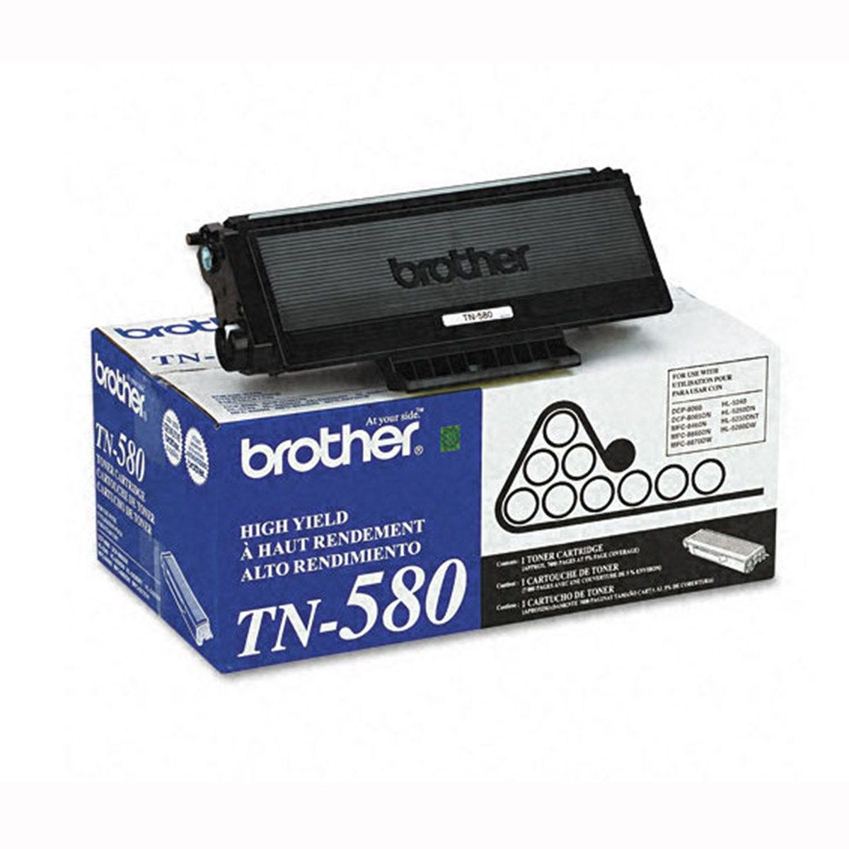 Toner Preto Original Brother TN-580