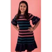 Vestido Teen Listrado