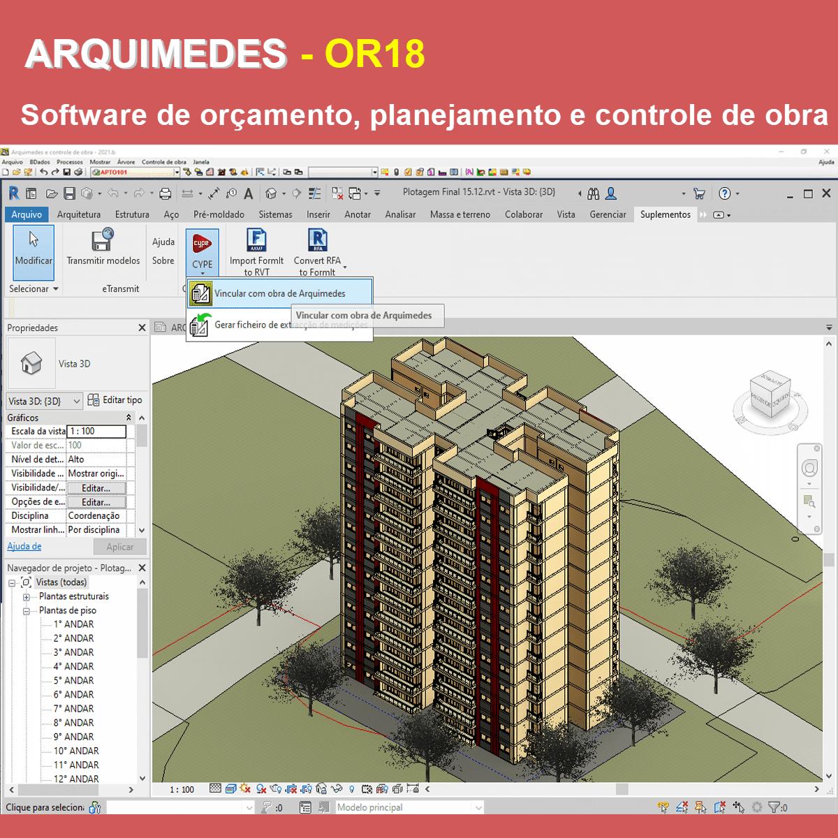 """Software Arquimedes OR18 versão 2021 (Licença Eletrônica) incluindo a modulação descrita em """"Itens Inclusos"""" a seguir  - MULTIPLUS SOFTWARES"""