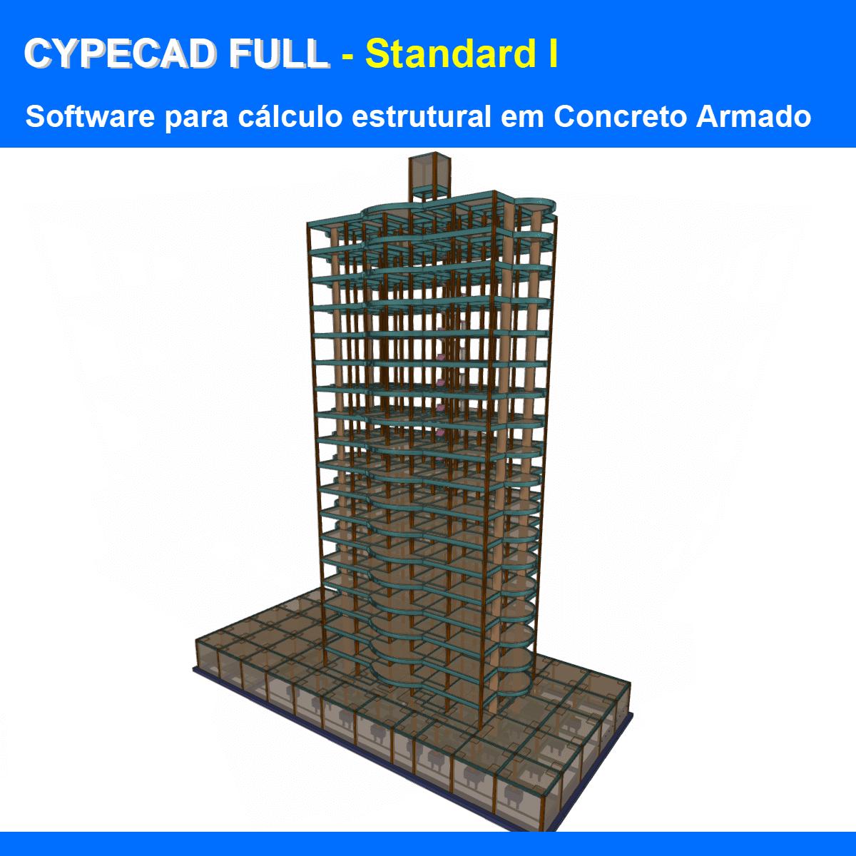 """Software CYPECAD Full Standard I versão 2021 (Licença Eletrônica) incluindo a modulação descrita em """"Itens Inclusos"""" a seguir  - MULTIPLUS SOFTWARES"""