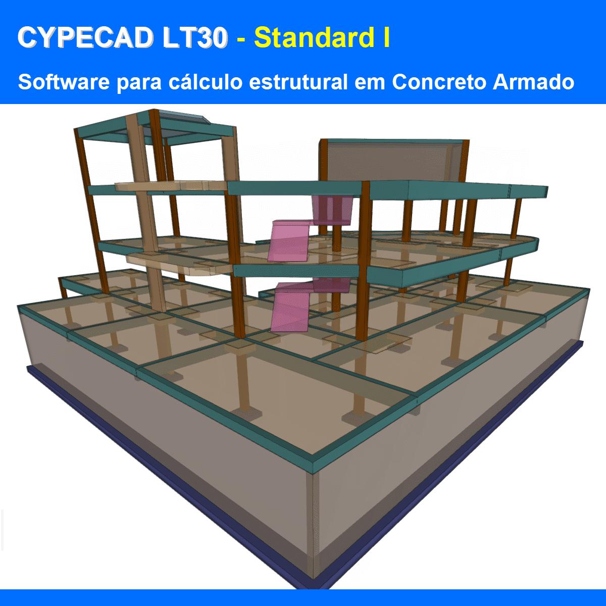 """Software CYPECAD LT30 Standard I versão 2021 (Licença Eletrônica) incluindo a modulação descrita em """"Itens Inclusos"""" a seguir  - MULTIPLUS SOFTWARES"""