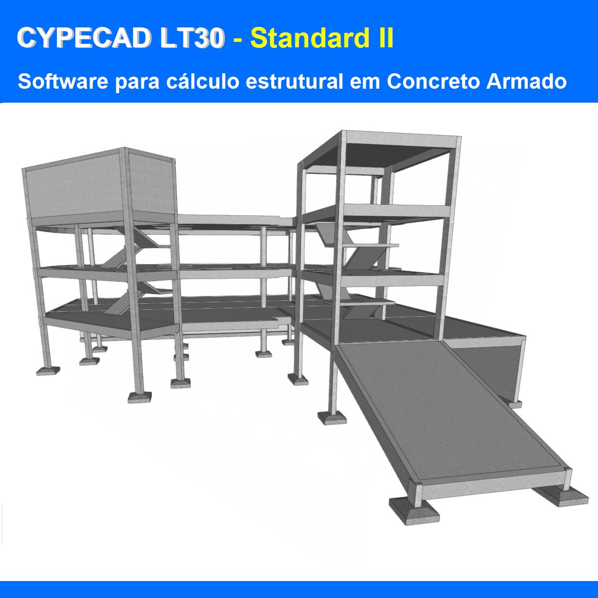 """Software CYPECAD LT30 Standard II versão 2021 (Licença Eletrônica) incluindo a modulação descrita em """"Itens Inclusos"""" a seguir  - MULTIPLUS SOFTWARES"""