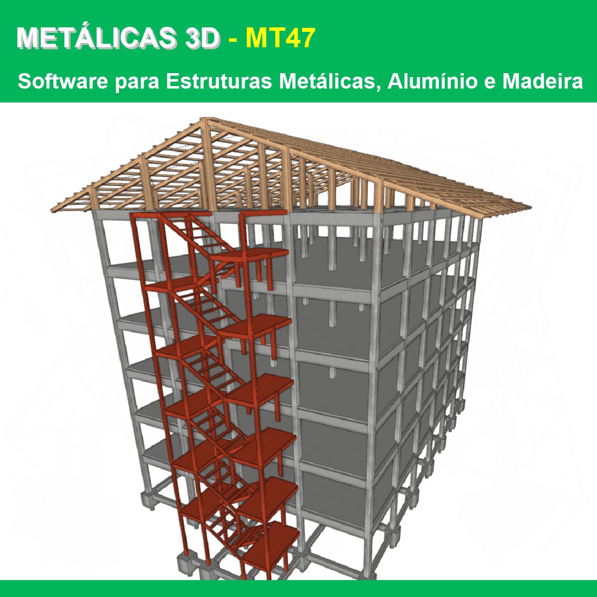 """Software Metálicas 3D MT47 versão 2021 (Licença Eletrônica) incluindo a modulação descrita em """"Itens Inclusos"""" a seguir  - MULTIPLUS SOFTWARES"""