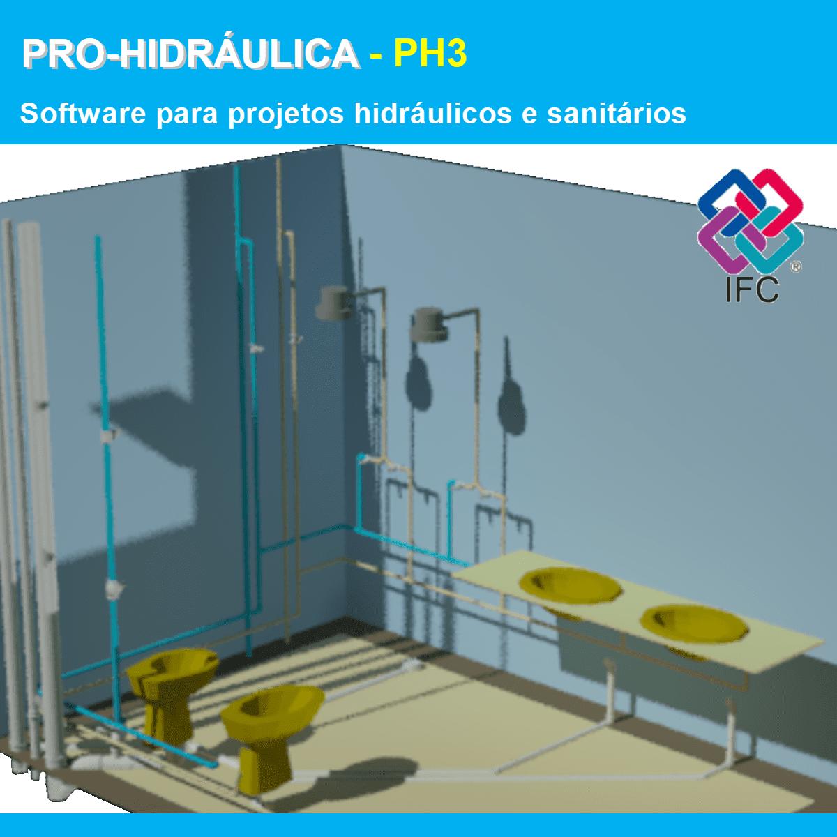 Software PRO-Hidraulica versão 18 Pacote PH3 incluindo Detalhamento, Dimensionamento e Exportação em IFC  - MULTIPLUS SOFTWARES