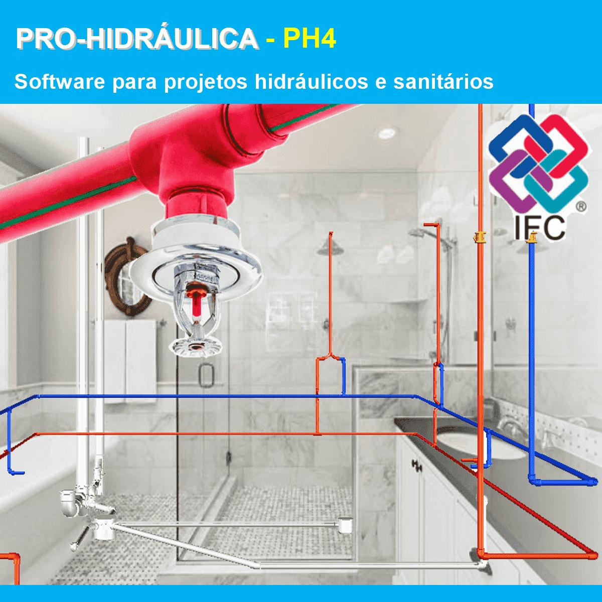 Software PRO-Hidráulica versão 18 Pacote PH4 incluindo Detalhamento, Dimensionamento, Incêndio e Exportação em IFC  - MULTIPLUS SOFTWARES
