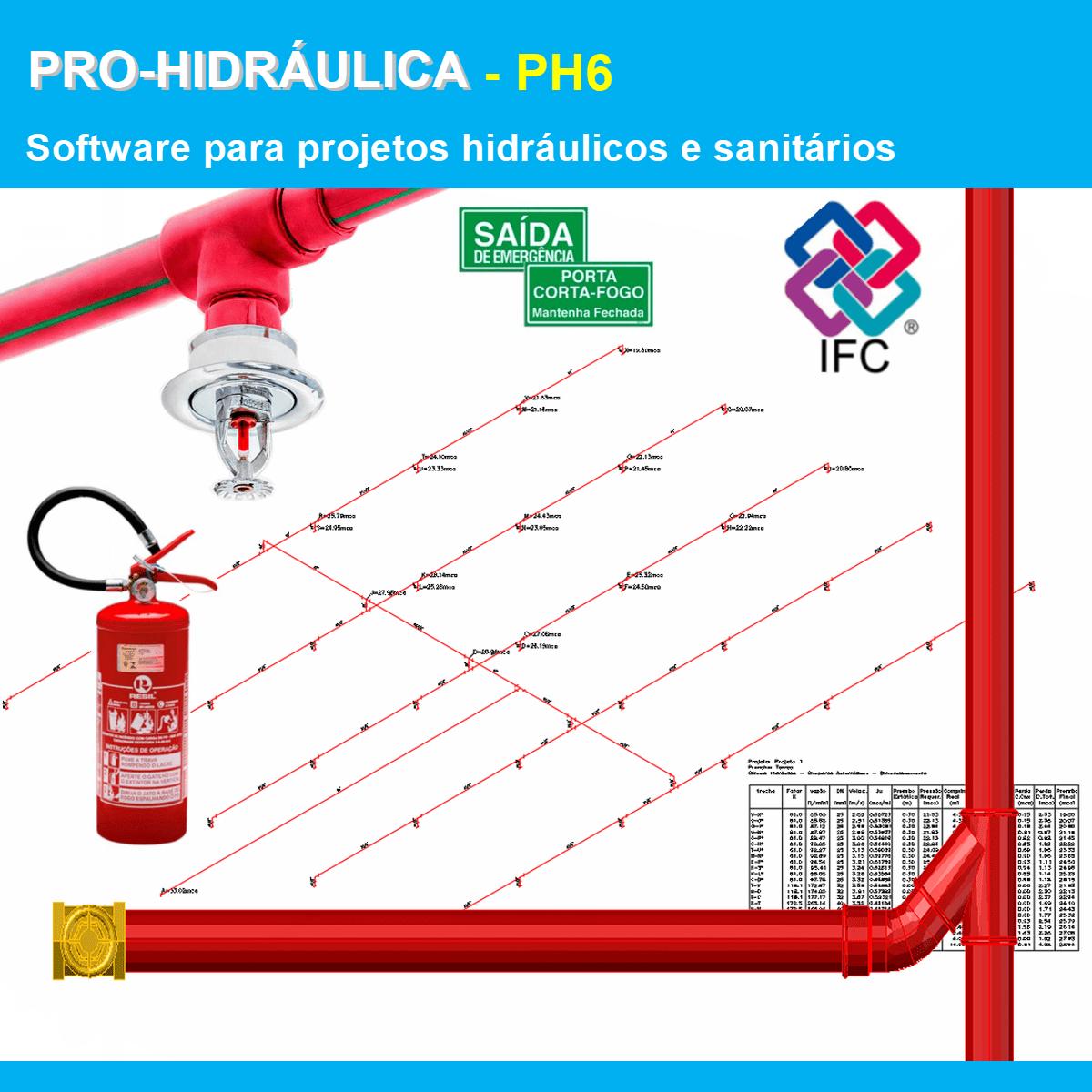 Software PRO-Hidraulica versão 18 Pacote PH6 incluindo Detalhamento, Incêndio e Exportação em IFC  - MULTIPLUS SOFTWARES