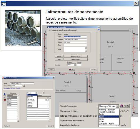 Software Redes Urbanas Completo versão 2018 incluindo Rede de Água, Esgoto, Elétrica e Gás no mesmo hard lock