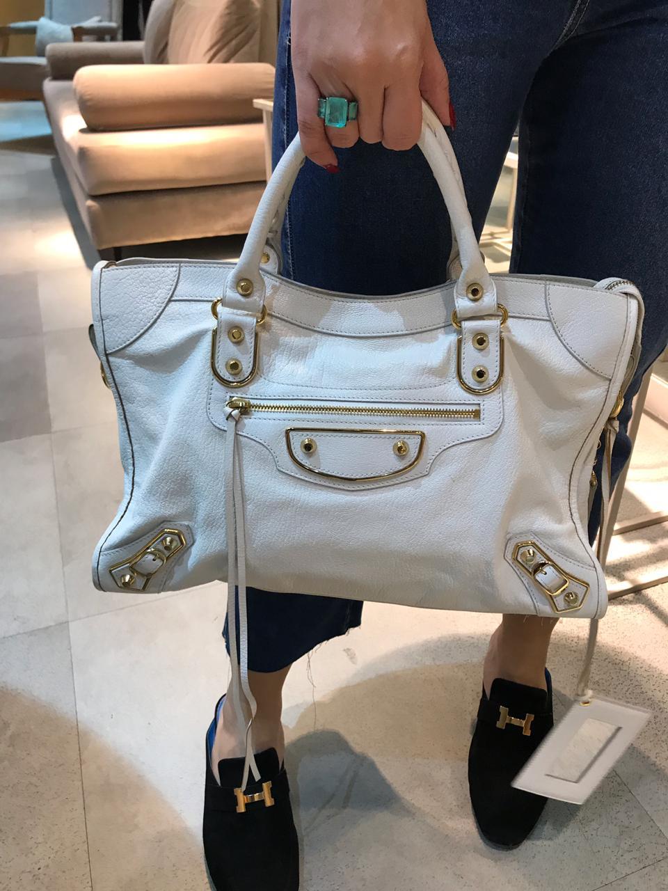 Bolsa Balenciaga Off White