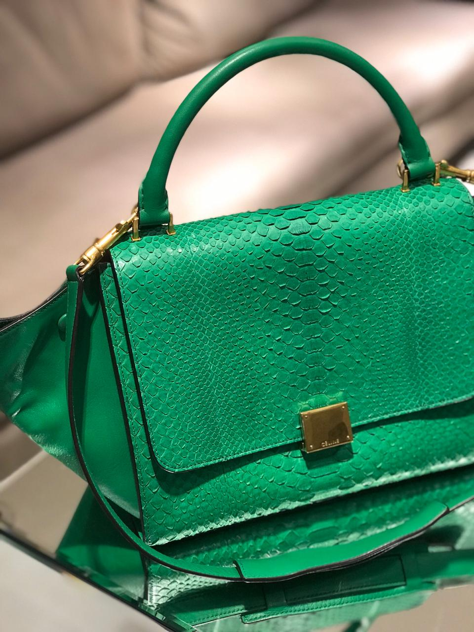 Bolsa Celine Trapézio Verde