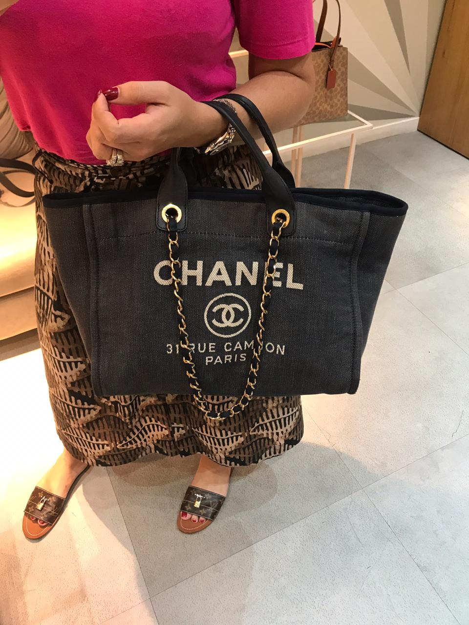 Bolsa Chanel  Deauville Jeans