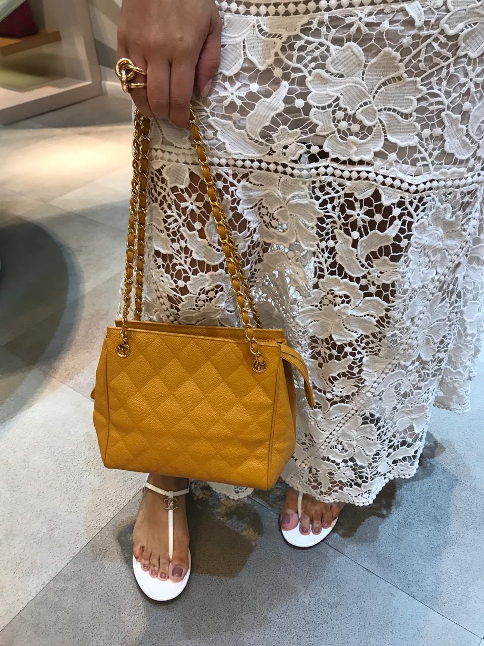 Bolsa Chanel Vintage Mostarda