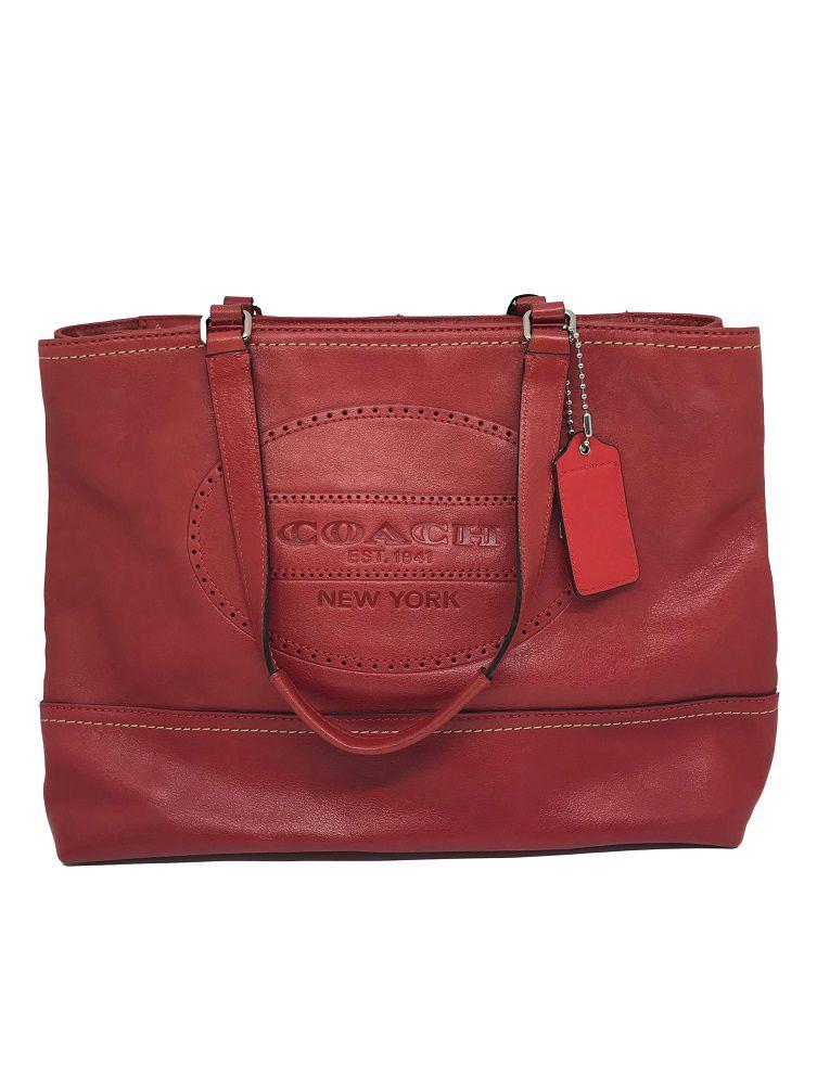 565bb3847 Bolsa Coach Vermelha - Paula Frank | Bolsas de luxo originais, novas ...