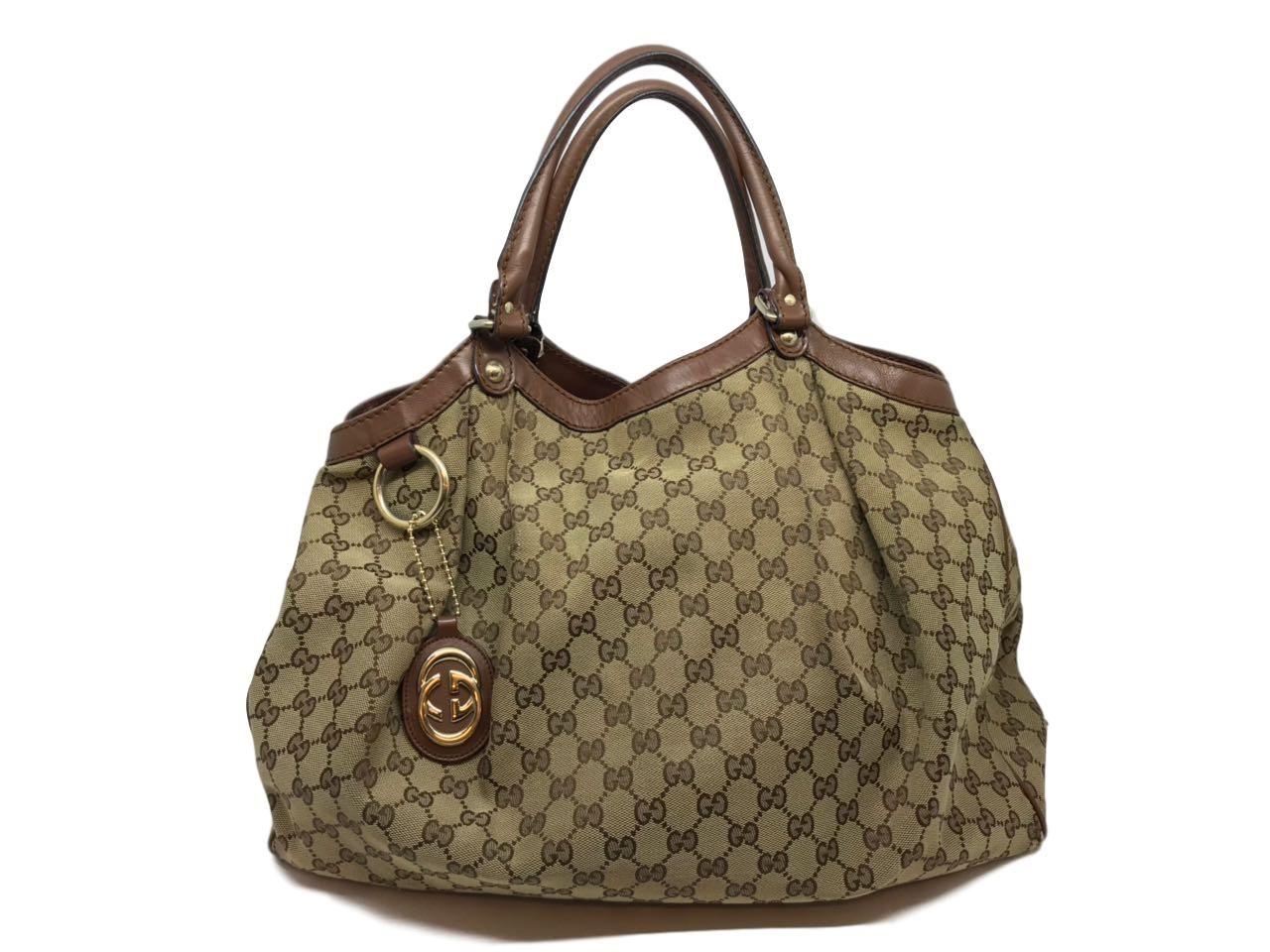 3b3ad06ea Bolsa Gucci Monograma Friso em couro - Paula Frank | Bolsas de luxo ...