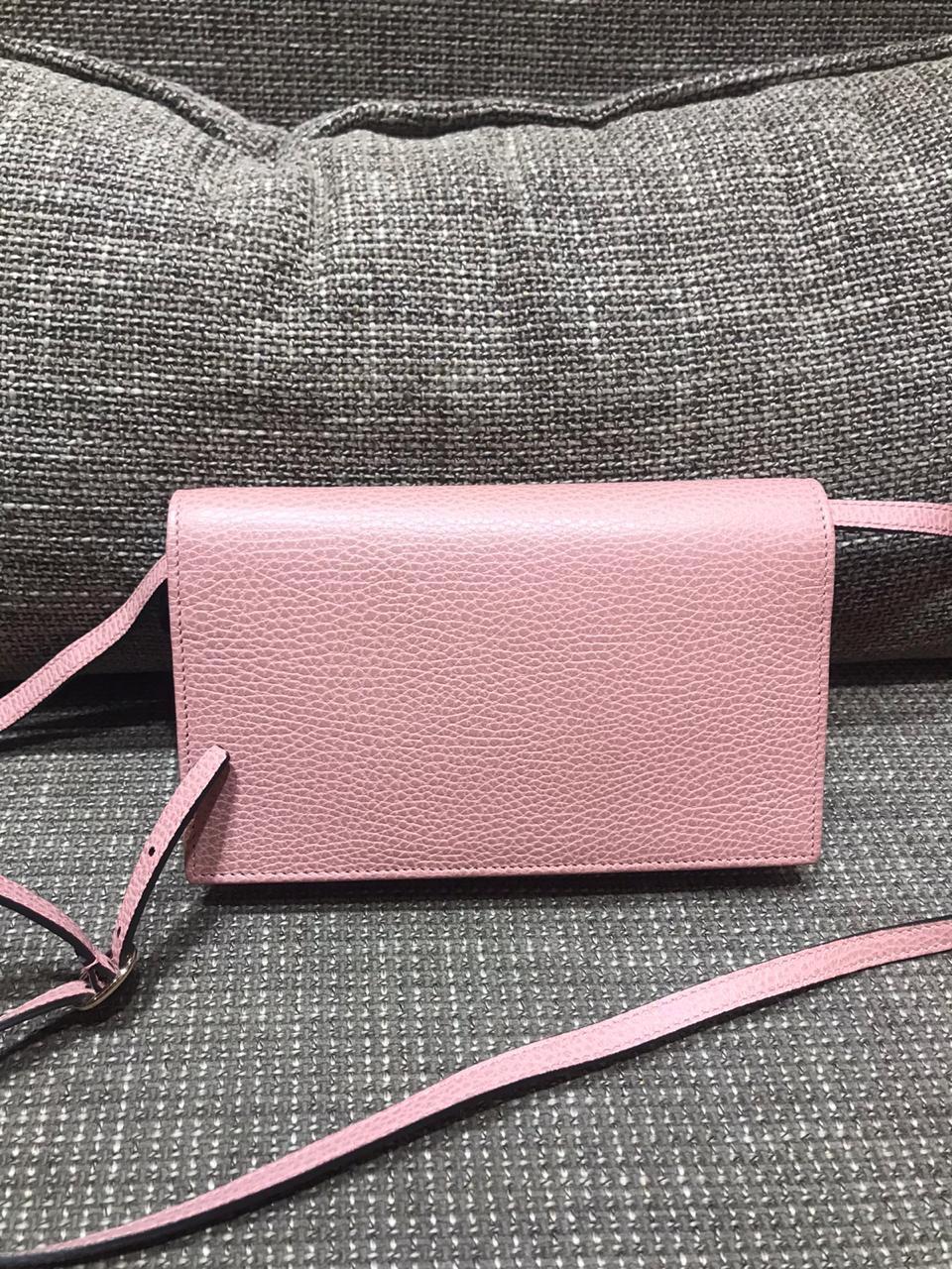 Bolsa Gucci Rosa Claro Pequena